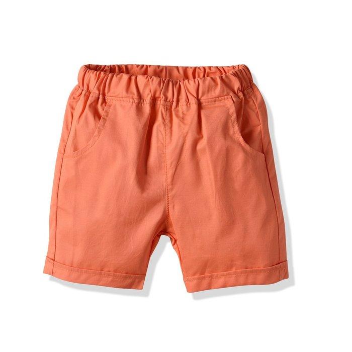 男童 休閑短褲 中大童寶寶梳織純棉夏季短褲
