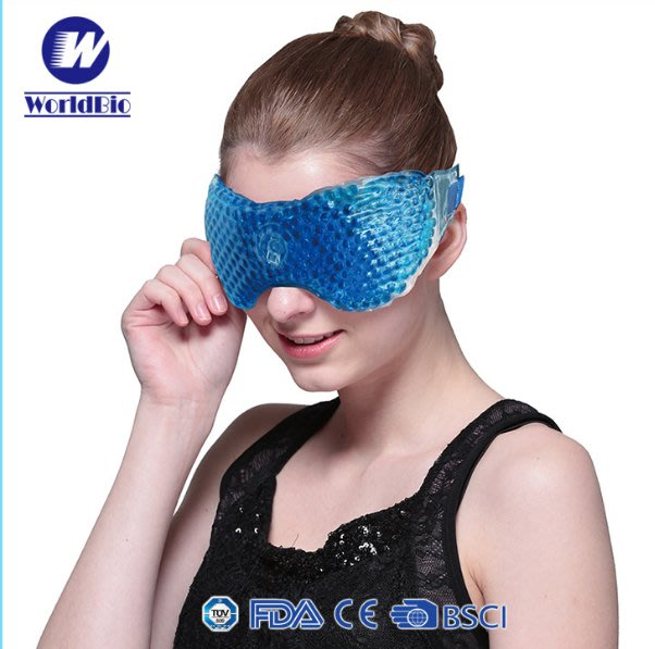 冰珠眼罩睡眠冰袋緩解疲勞 冷熱敷冰眼罩 夏季成人去眼袋冰敷眼罩