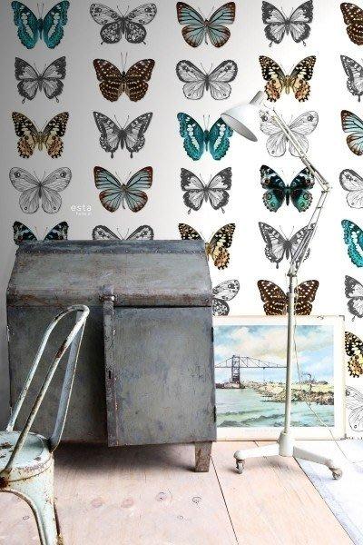 【Uluru】歐洲期貨壁紙.北歐簡約 butterflies 蝴蝶 昆蟲 壁紙 HE105系列