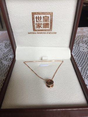 意大利純銀鍍玫瑰金鋯石頸鏈
