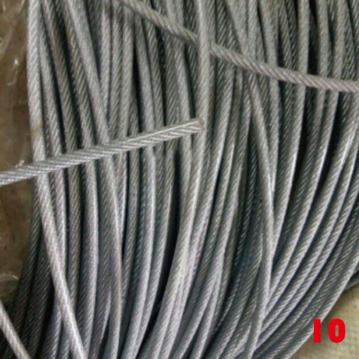 現貨附發票『寰岳五金』#304 不鏽鋼 2mm 白鐵鋼索 鋼索 鋼纜 鋼索 白鐵鋼纜 壓頭鋼索 吊車鋼索 (1米)