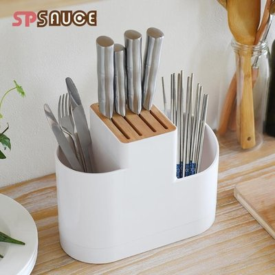 家用多功能刀架刀座放刀具的收納架子廚房用品置物架勺筷子菜刀架【潮男阿舍】