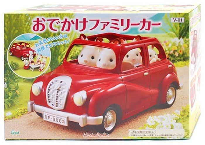 【阿LIN】27610A 森林家族 家庭車-紅 EP27610 汽車 野餐 模型 家家酒 麗嬰國際 正版 ST安全玩具