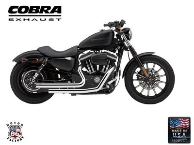 《美式工廠》美國 COBRA 眼鏡蛇 排氣管 6833T 哈雷 48 72 883L XL1200R Superlow