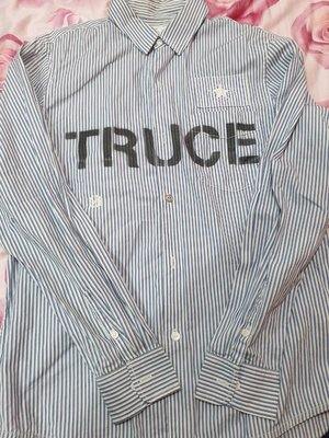 NEIGHBORHOOD 10 S/S Truce /C-Shirt.LS Scrawl 條紋襯衫  L