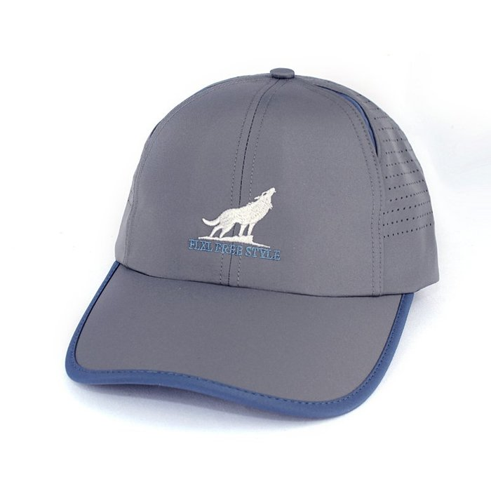 ☆二鹿帽飾☆(FLXL) 抗UV 休閒球帽/流行棒球帽/雷射雕刻布網.帽簷加長加寬型-台灣製 9cm-深灰色