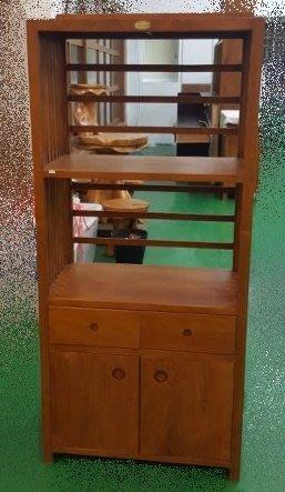 二手家具宏品 台中全新中古傢俱買賣 HM1109IJE3*全新柚木高低櫃 全實木電器櫃 藝品展示架*收納櫃 置物櫃 酒櫃