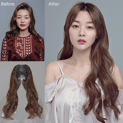 全新設計U型半罩式半頂假髮 韓系浪漫大捲長髮 逼真自然【MW356】☆雙兒網☆