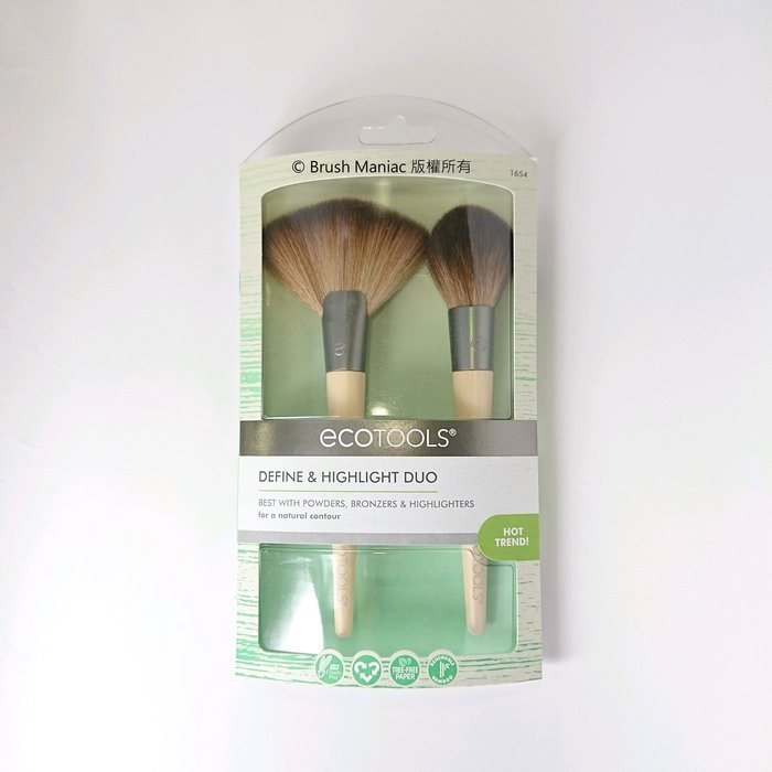 Brush Maniac - ecotools Define And Highlight Duo 修容打亮雙刷組