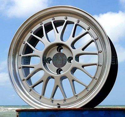 全新鋁圈 RSM RB02 17吋 4孔100 7.5J 高亮銀車邊