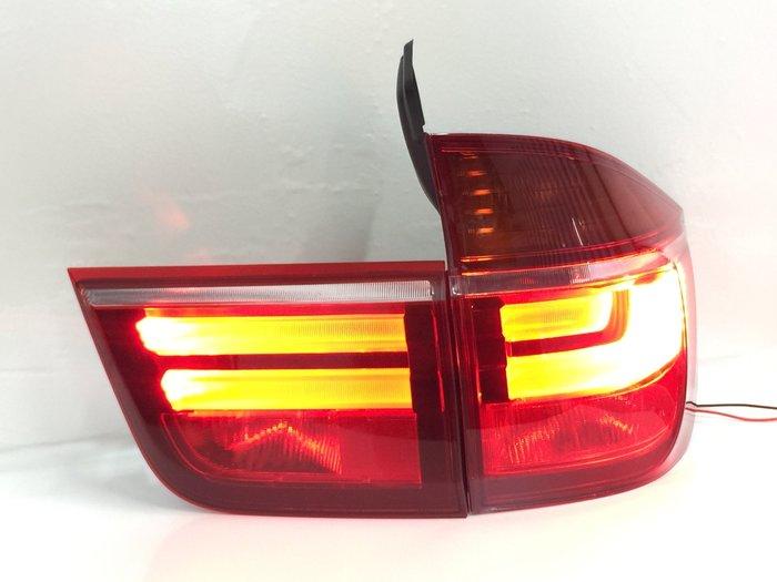 合豐源 車燈 BMW E70 X5 LED 導光 尾燈 後燈 光導 07 08 09 10 11 改 新款 寶馬 光柱