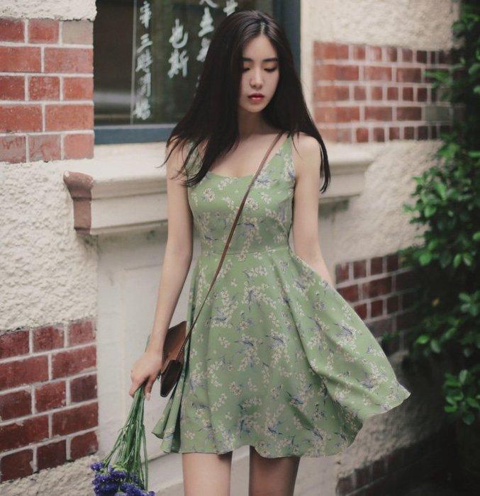 ❤Shinena 千奈公主❤韓國空運✈現貨 氣質小清新花卉顯瘦雪紡洋裝E088