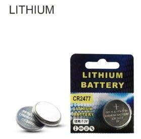 (鈕扣電池)3V定位卡識別器耐高溫鈕扣鋰電池CR2477鈕扣電池電飯煲電飯鍋