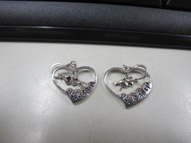 二手舖 NO.4545 時尚造型耳環 耳針 耳鉤 便宜賣 首飾飾品