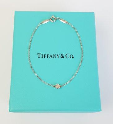 TIFFANY & CO.  鑽石手鍊   純銀 925   by the Yard® 系列,保證真品 超級特價便宜賣