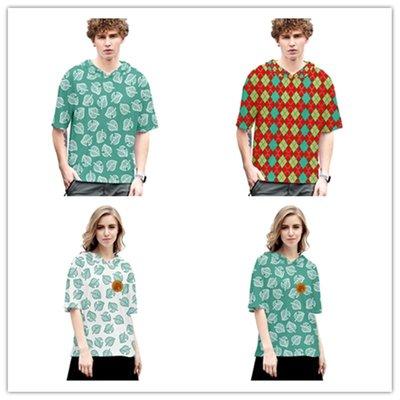 夏季新品 animal crossing 動物森友會 3D帶帽短袖T恤夏季男女上衣 動物之森遊戲周邊衣服  #奇趣百貨#SZXZ212