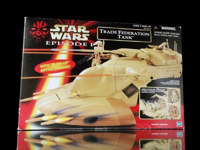 2FH-23 櫃 : 日版 TRADE FEDERATION TANK 首部曲 威脅潛伏 貿易聯邦突擊坦克 富貴玩具店
