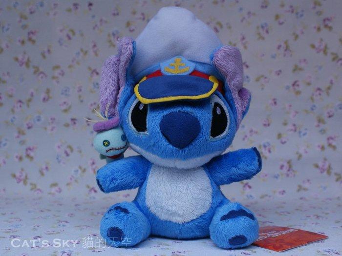 《Cat Sky》日本正版.迪士尼Disney超可愛Stitch史迪奇.船長