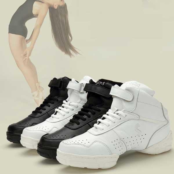 5Cgo【鴿樓】會員有優惠  40783335245 白色兒童現代廣場舞蹈鞋秋冬男真皮健身軟底女爵士跳舞鞋