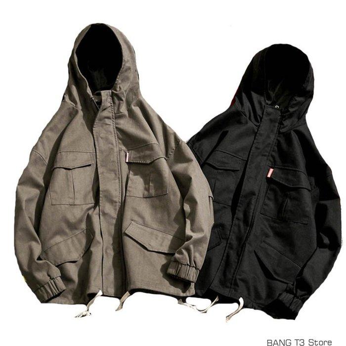 BANG 軍裝外套 工裝外套 連帽外套 男生長袖 外套 男生外套【MC42】