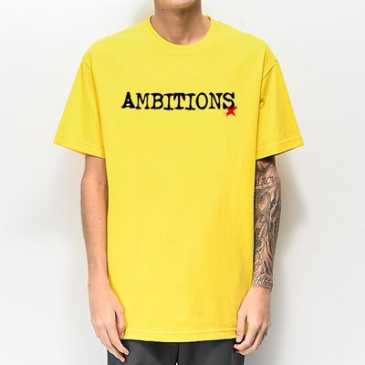 One Ok Rock Ambitions 短袖T恤 黃色 日本後硬核樂團 2017年薪專輯款