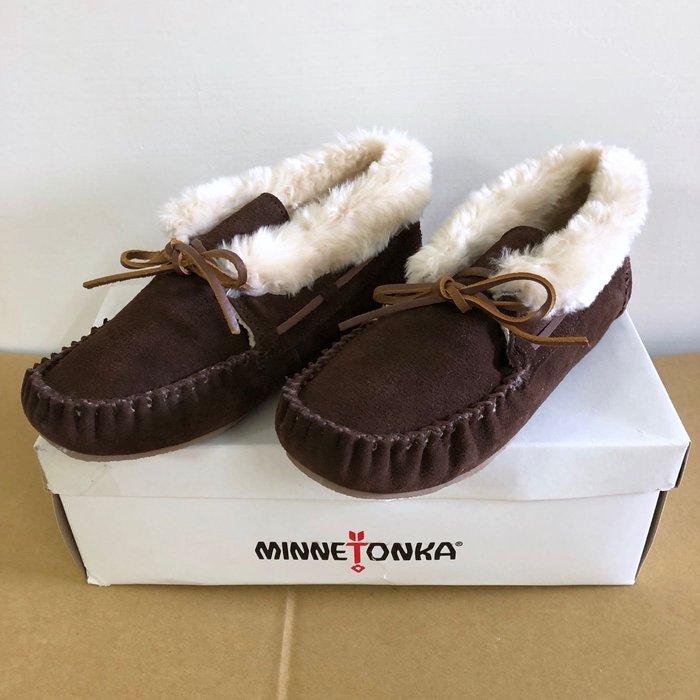 Maple麋鹿小舖 美國AE官網購買 *莫卡辛麂皮毛毛休閒鞋 * ( 現貨7號 )