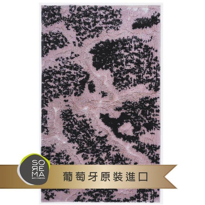 【Sorema 舒蕾馬】奢華時尚-MARBLE 粉銀 腳踏墊 50x80cm(南歐明星品牌 頂級SPA渡假飯店衛浴品味)