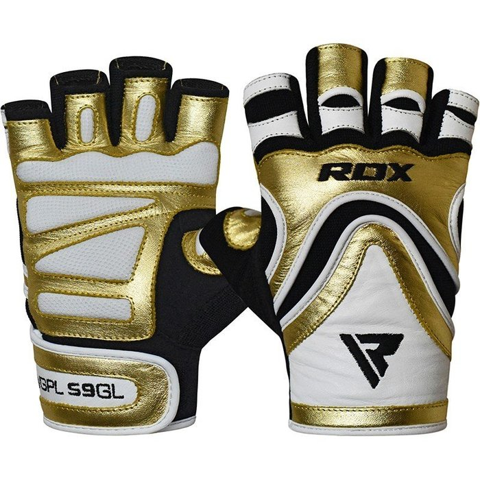 【神拳阿凱】RDX 英國 WGPL-S9GL 重訓 健身手套 透氣 防磨 金白(免運)
