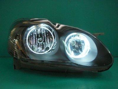 ☆小傑車燈家族☆本月特價全新優質ALTIS黑框CCFL白光圈大燈一組4200元DEPO製品