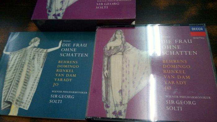 好音悅 半銀圈 Solti 蕭提 R.Strauss 理查 史特勞斯 沒有影子的女人 3CD 德01版 無IFPI