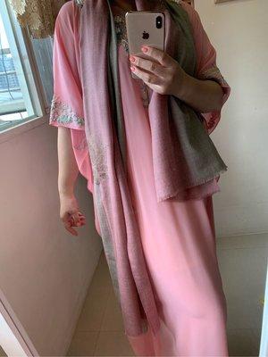 Blog2019/12/16 夢夢園-蓮花原色古玫瑰雙色漸層高級水鑽羊毛披肩 180x70cm, SHINING DIAMOND PASHIMINA STOLE