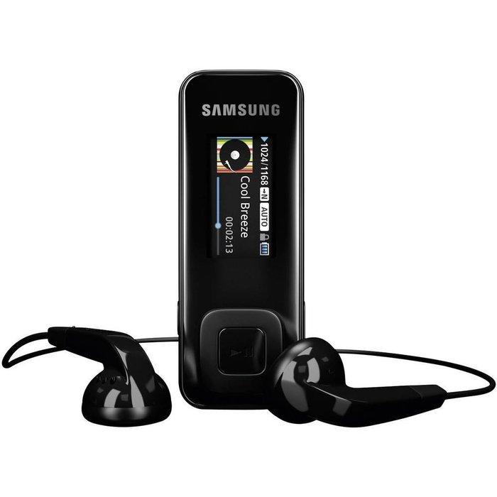 MP3 player Samsung 數位隨身聽 錄音筆 2G  黑色(YP-F3QP)