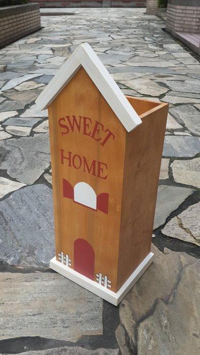 ~Cotton Milk 雜貨散步~ 日本鄉村雜貨--Sweet Home 手作彩繪收納桶&傘桶(出清特價)