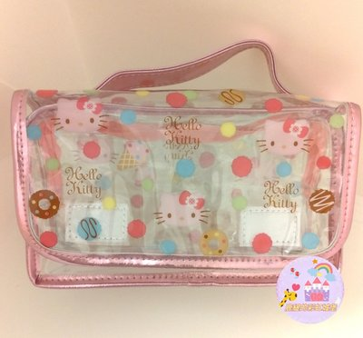 鹿緹的彩虹城堡~日貨 Sanrio Holle Kitty 甜點透明小提包 2009年絕版商品