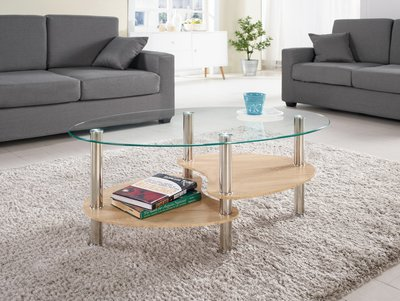 CH290-3 芬娜玻璃茶几/大台北地區/系統家具/沙發/床墊/茶几/高低櫃/1元起/超低價/高品質