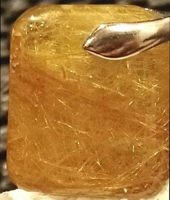 維納斯金髮晶滿絲吊墜,無事牌狀,髮絲飽滿規格:15*12*5mm