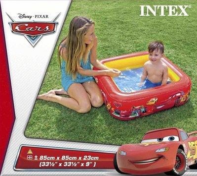 [衣林時尚] INTEX CARS baby游泳池 85 x 85 x 23cm  57101 (有氣墊)