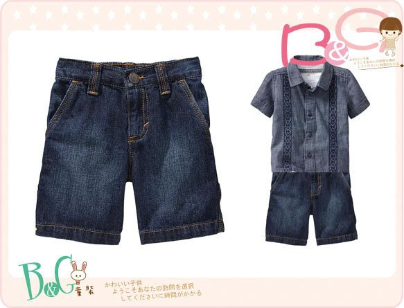 ~B  G ~正品美國 OLD NAVY Denim Painter 牛仔短褲18~24m