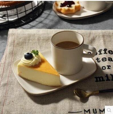 【優上】米立風物 日式萬古燒杯子 陶瓷咖啡杯 早餐杯奶杯「A高杯配方碟咖啡杯碟一組」