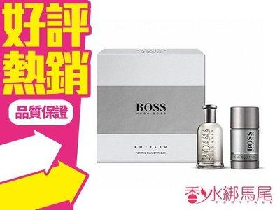 ◐香水綁馬尾◐HUGO BOSS 自信 男性淡香水 禮盒 二件組 (香水50ml+ 體香膏75g)