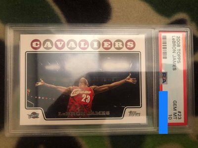 2008-09 Topps LeBron James Chalk Toss PSA 10. ICONIC CARD!