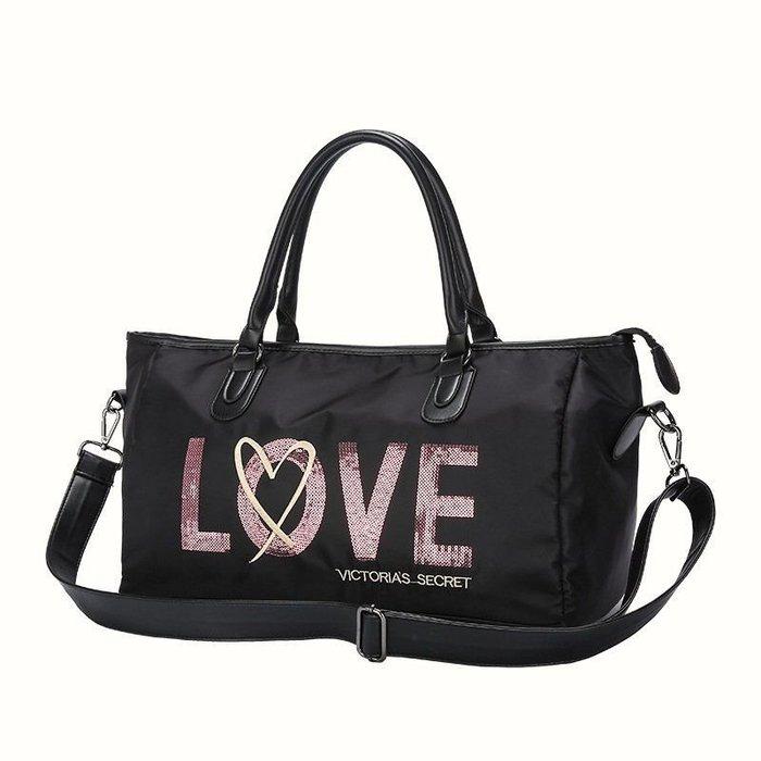 1220:) 🎉Victoria's  secret 維多利亞秘密 大容量防水尼龍 購物包/旅行袋/健身袋