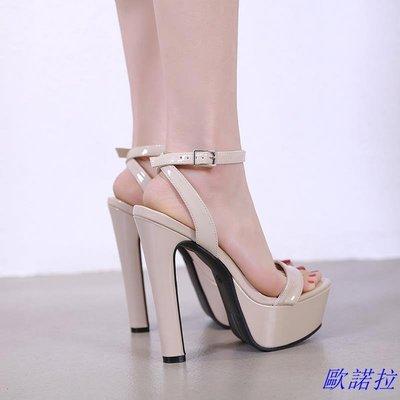 歐諾拉 16性感超高跟鞋粗跟15公分防...