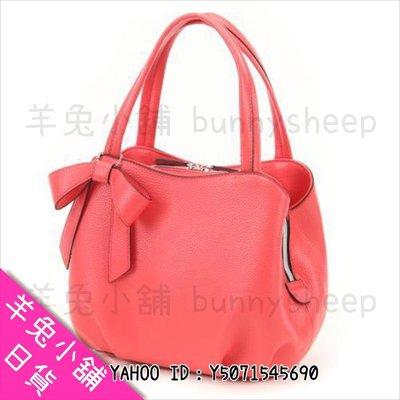 【日本可愛甜美丸型皮革蝴蝶結 小手提包】Z19789 羊兔小舖 日貨 日本代購 女包 小包 肩背包