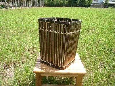 香河竹藝行~~~~竹編垃圾桶、方形紙簍桶、花盆