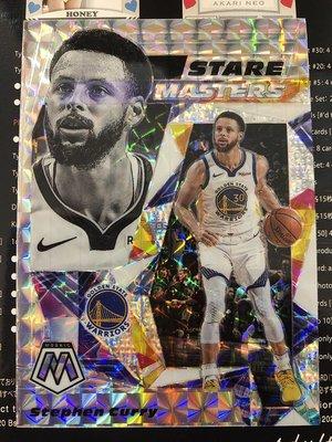 2019-20 NBA Panini Mosaic Stephen Curry Stare Masters 特卡