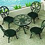 [售完] 森林家族 戶外 下午茶 桌椅組 袖珍玩具 傢俱 家具 涼椅 (不含人偶)佩佩豬也適合搭配