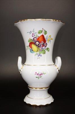 德國麥森Meissen  水果畫 金邊 花瓶 高25公分 一級典藏品