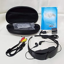 VIRTUAL PRIVATE THEATER GLASSES - Wide Screen Display