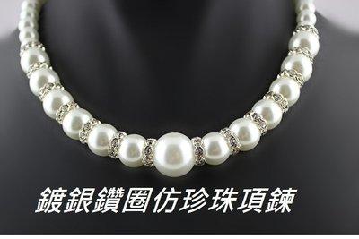 福福百貨~飾品高仿假珍珠項鍊母親節禮物...